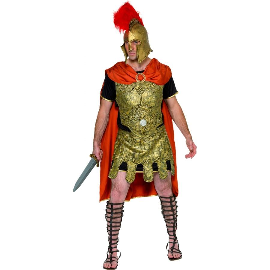 4baa5b7eef60f Costume de gladiateur or et rouge