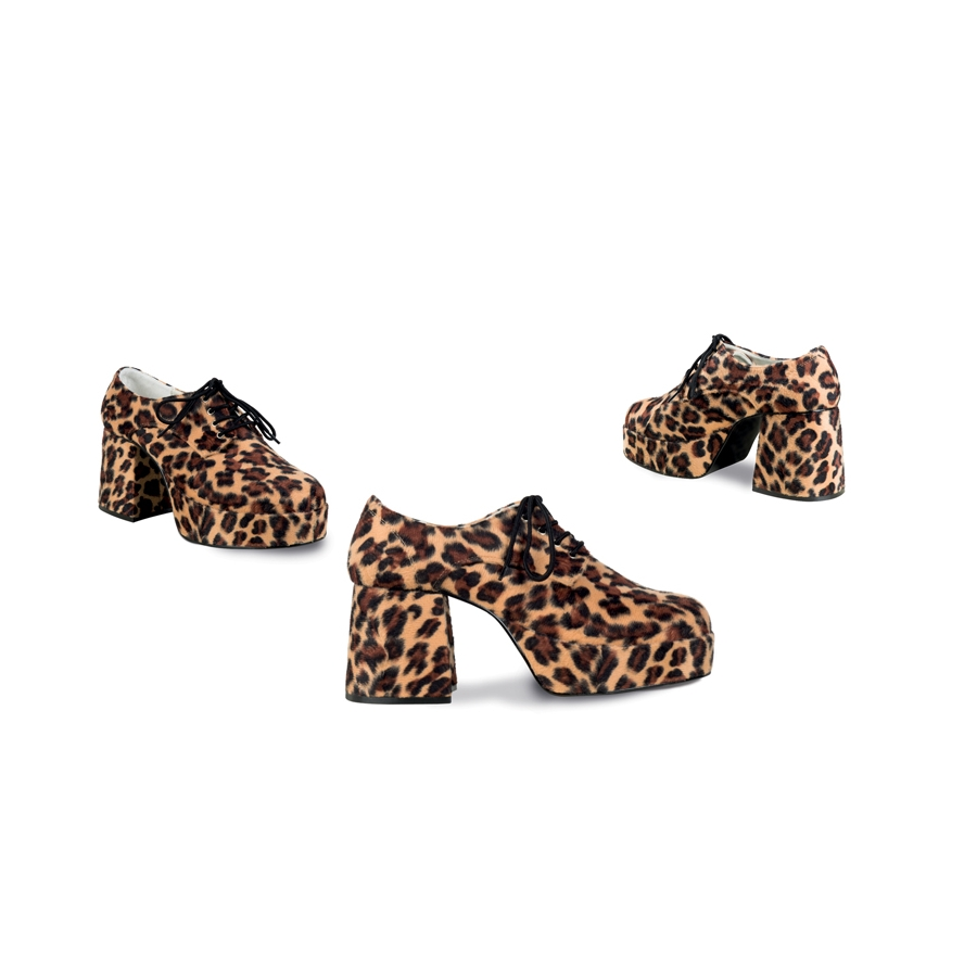 Chaussures disco léopard à talons, pour homme 3ca337491f42