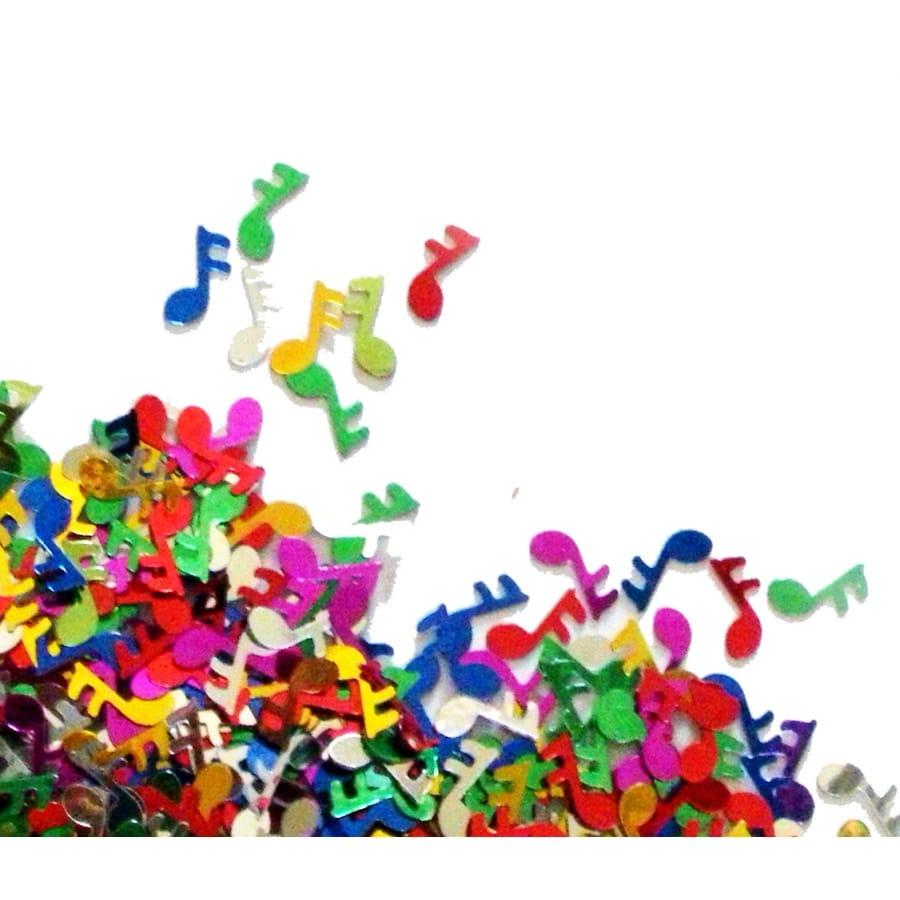 confettis de notes de musique multicolores