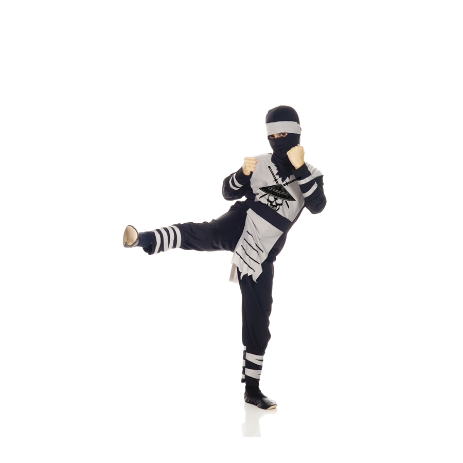 costume de ninja motif squelette pour enfant. Black Bedroom Furniture Sets. Home Design Ideas