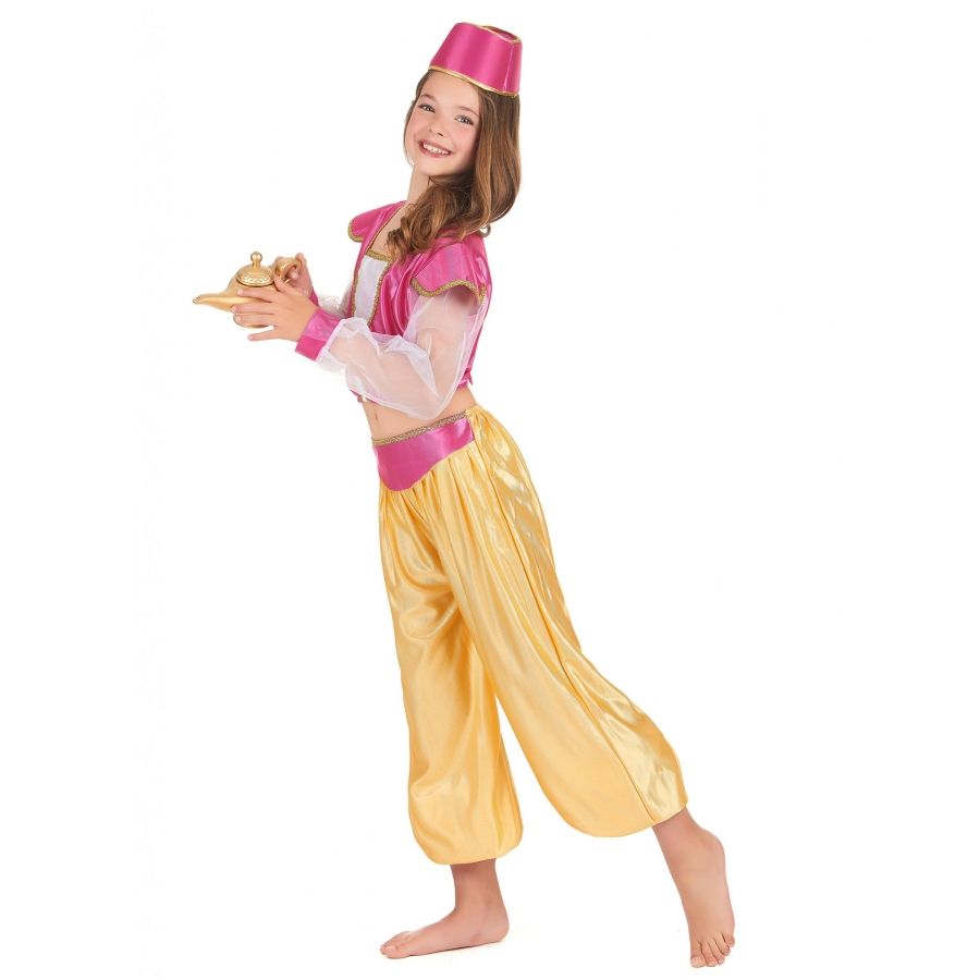 costume danseuse orientale rose et or pour fille. Black Bedroom Furniture Sets. Home Design Ideas