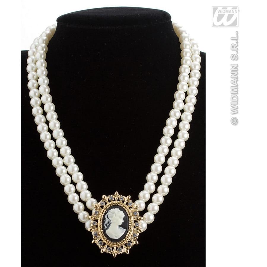 collier de perles avec pendentif ancien. Black Bedroom Furniture Sets. Home Design Ideas