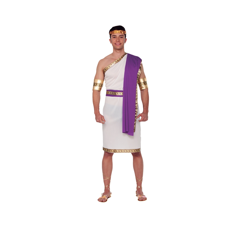 costume de romain toge blanche et violette. Black Bedroom Furniture Sets. Home Design Ideas