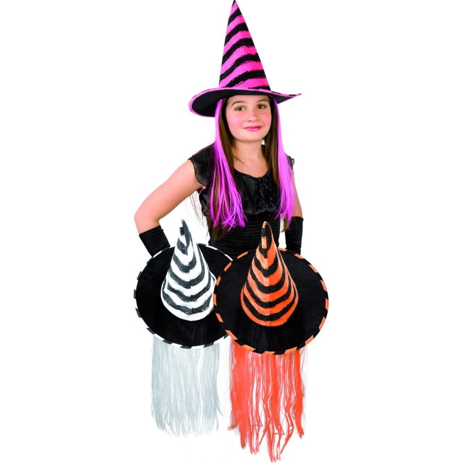 moderne et élégant à la mode Site officiel sortie en vente Chapeau de sorciere enfant avec cheveux colorés