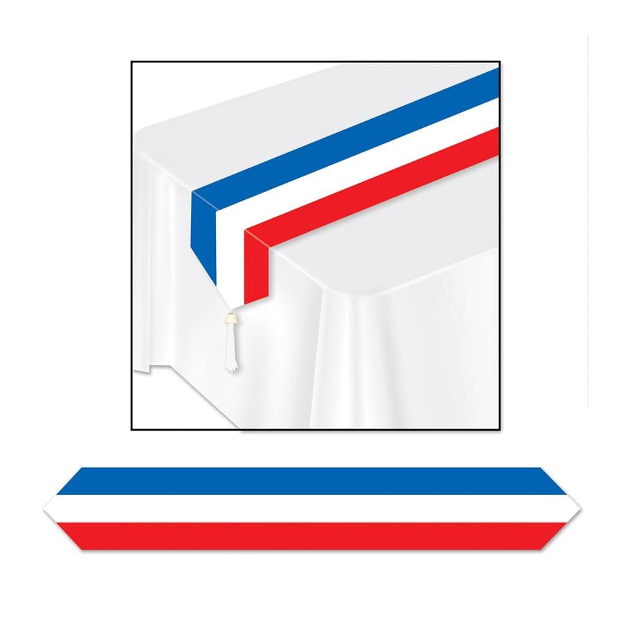Chemin de table drapeau fran ais de 180 x 30 cm for Chemin de table 180 cm
