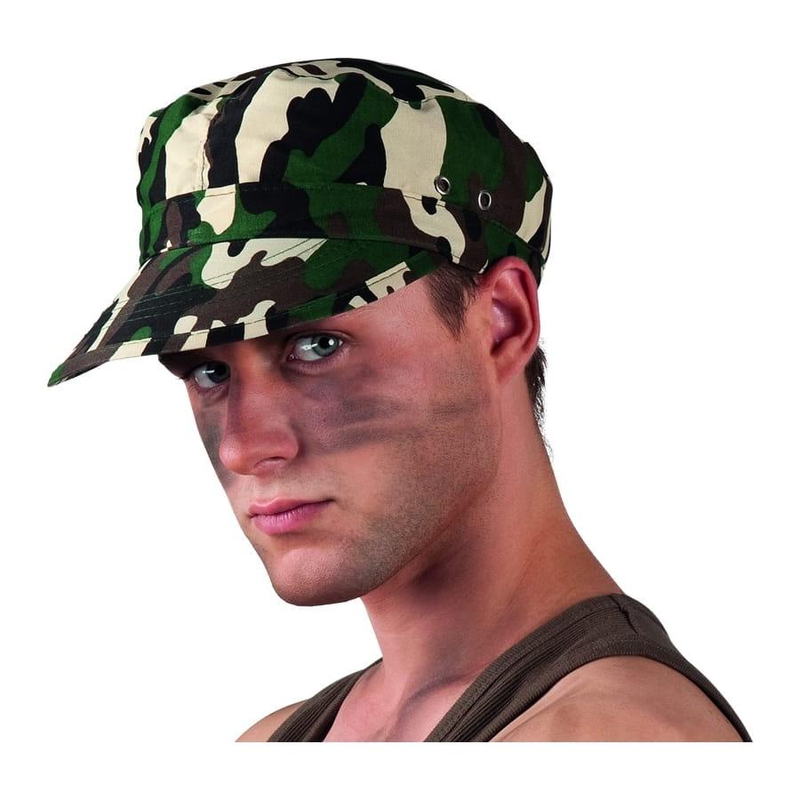 mode marque célèbre livraison gratuite Casquette militaire motif camouflage