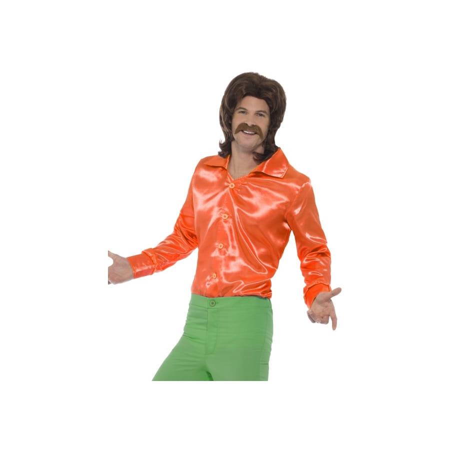 chemise orange ann es 60 pour homme. Black Bedroom Furniture Sets. Home Design Ideas