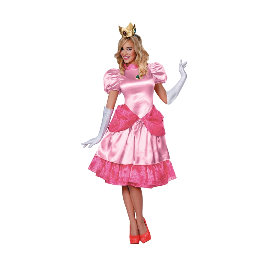 Costume princesse peach adulte mario bross - Princesse adulte ...