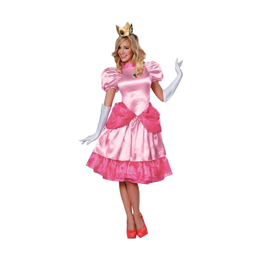 costume princesse peach adulte mario bross. Black Bedroom Furniture Sets. Home Design Ideas