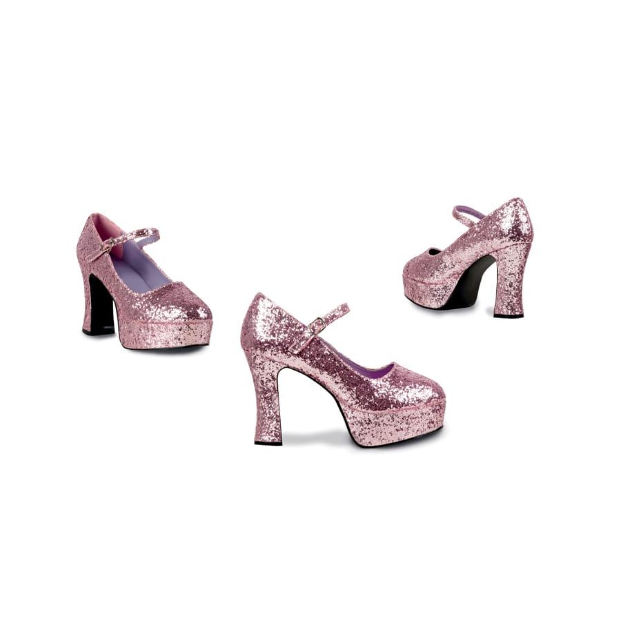chaussures rose paillettes talon haut. Black Bedroom Furniture Sets. Home Design Ideas