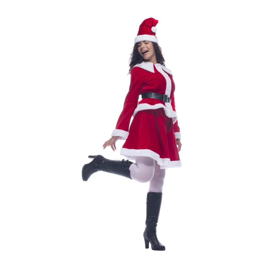 Costume robe de m re no l en velours rouge for Robe de noel rouge