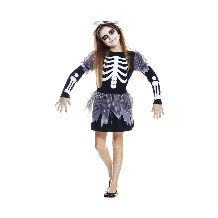 costume robe de squelette pour fille. Black Bedroom Furniture Sets. Home Design Ideas