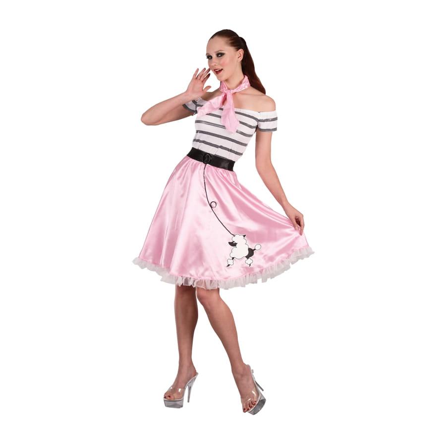 Costume robe rose des ann es 50 - Robe des annees 50 ...