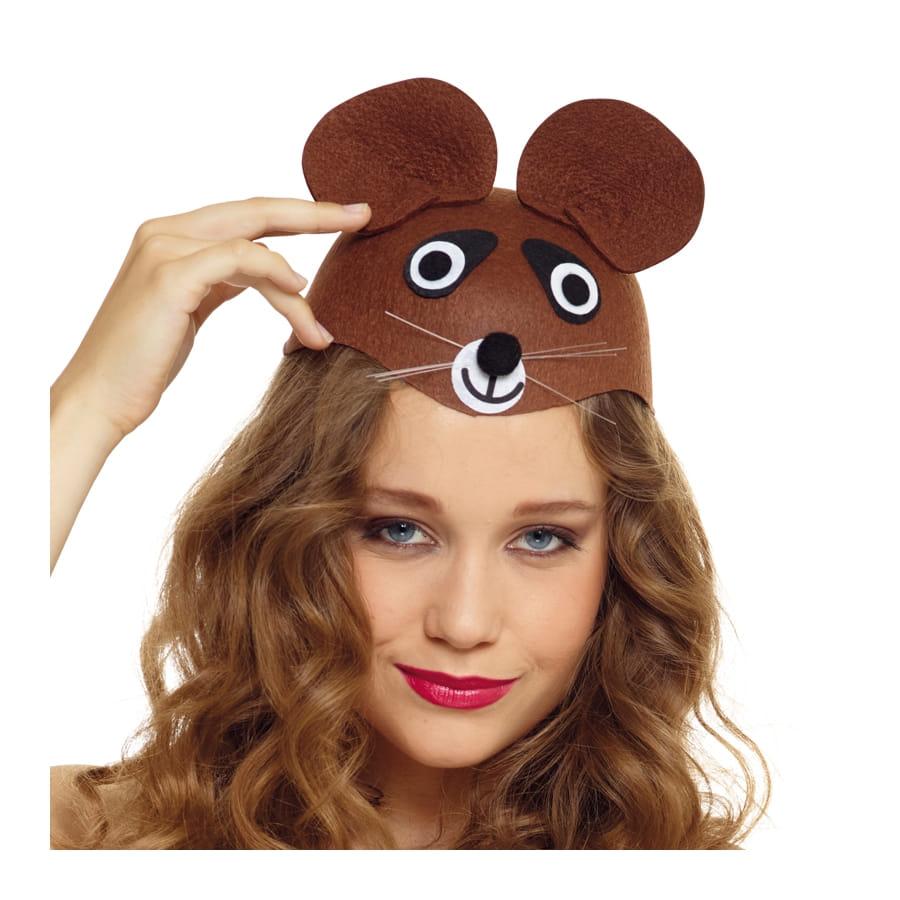 chapeau t te d 39 ours brun pour adulte. Black Bedroom Furniture Sets. Home Design Ideas