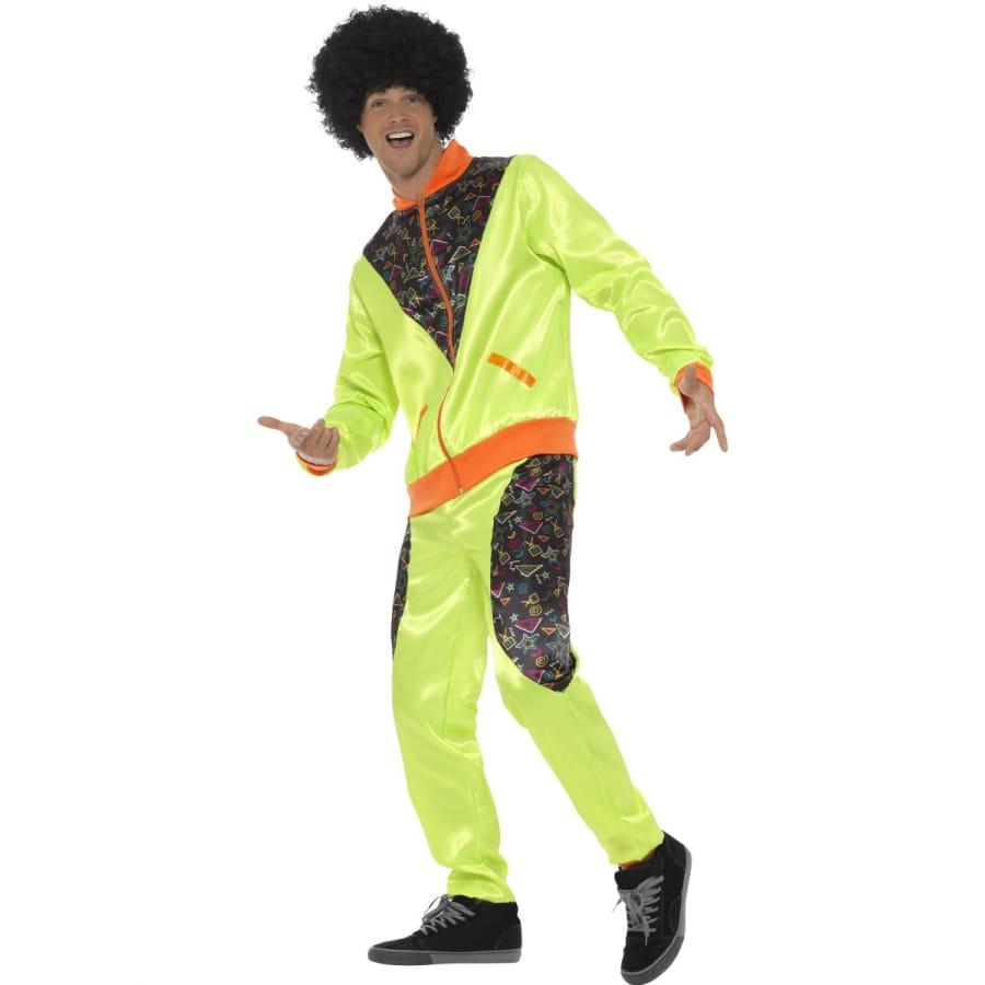 Costume training r tro vert pour homme ann es 80 - Deguisement sportif annee 80 ...