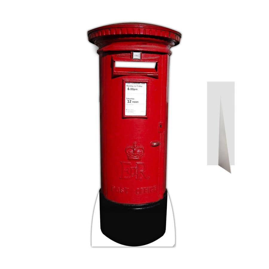 Decor Boite Aux Lettres Rouge En Carton Plat