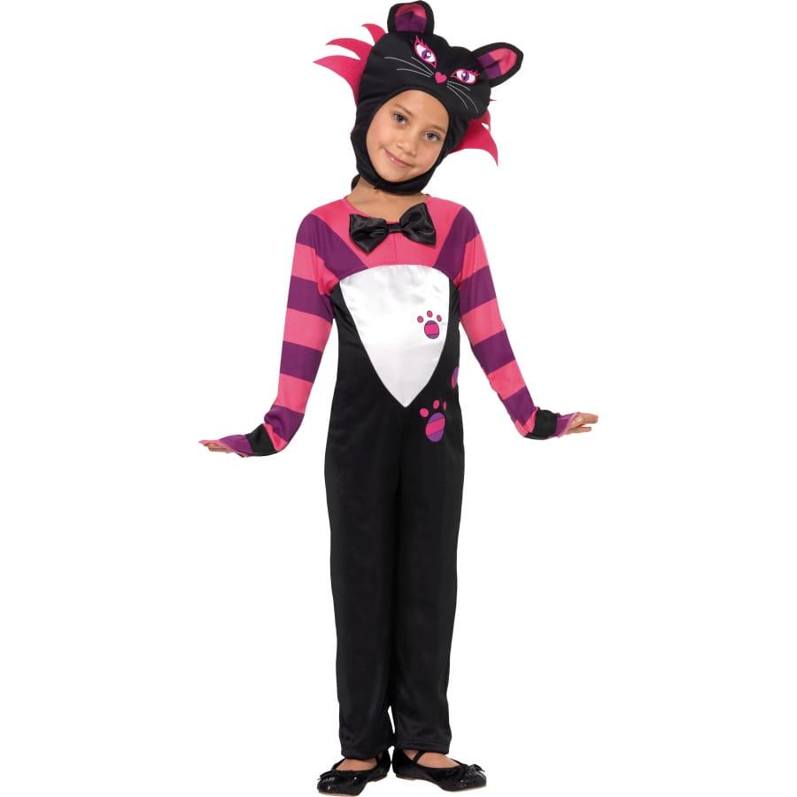 D guisement chat noir et rose fille - Deguisement chat fille ...
