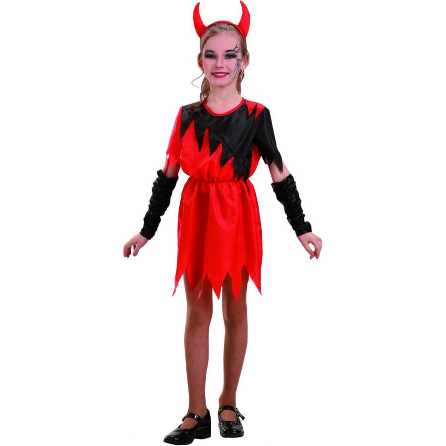 Deguisement diablesse avec cornes pour enfant - Petite diablesse ...