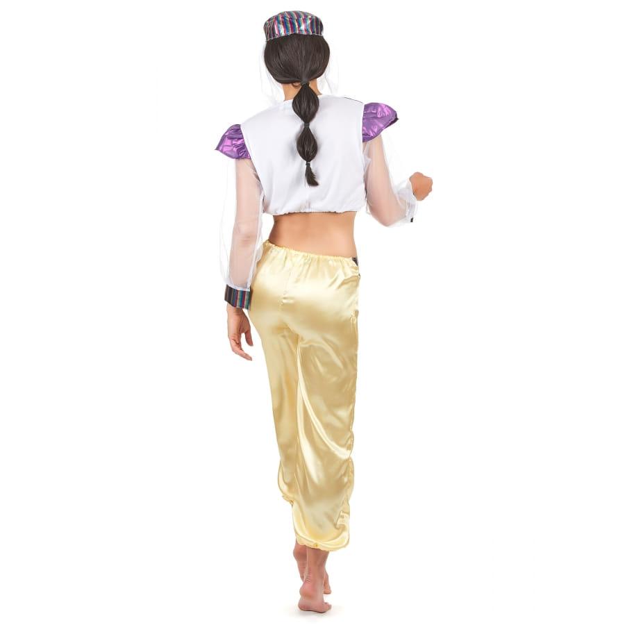 d guisement de danseuse orientale violet et blanc. Black Bedroom Furniture Sets. Home Design Ideas