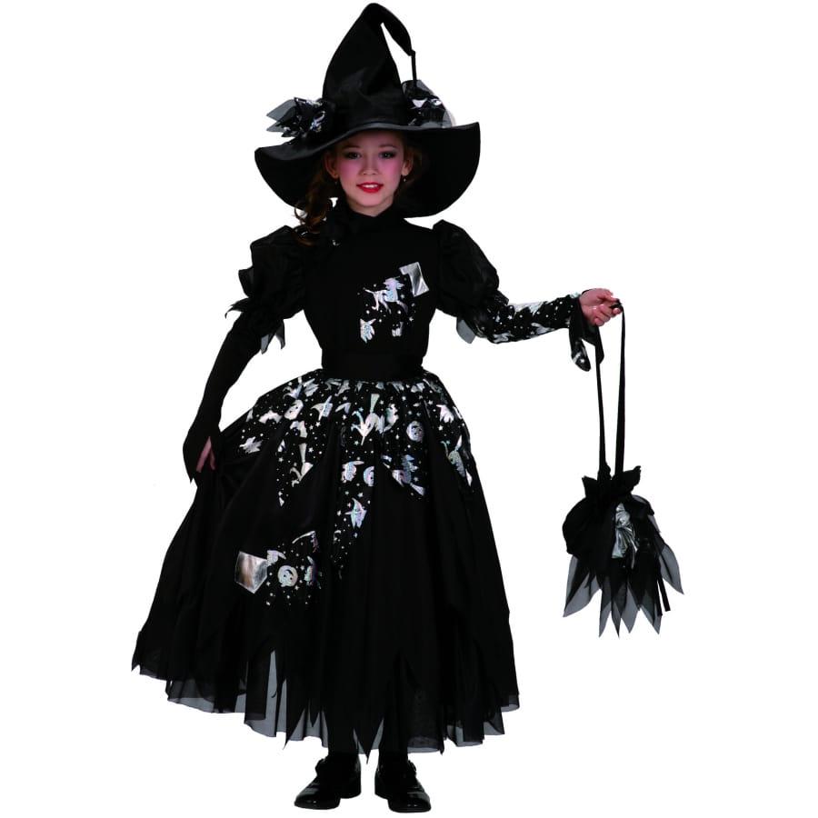 Sorcière Sorcières Robe Noir Enfants Costume