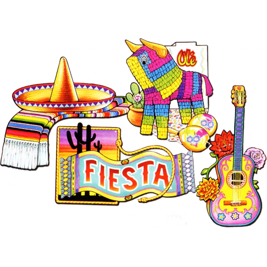 D corations fiesta mexicaine - Decoration mexicaine a imprimer ...