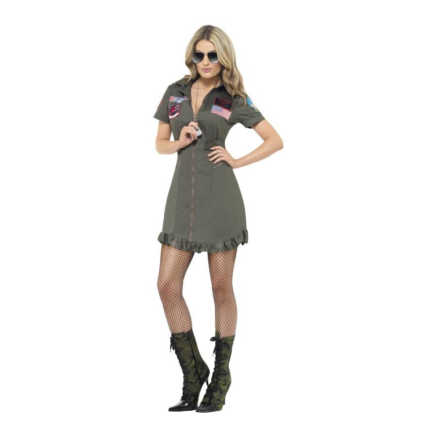 Top de Gun mujer Disfraz de lujo bIYfy67vg
