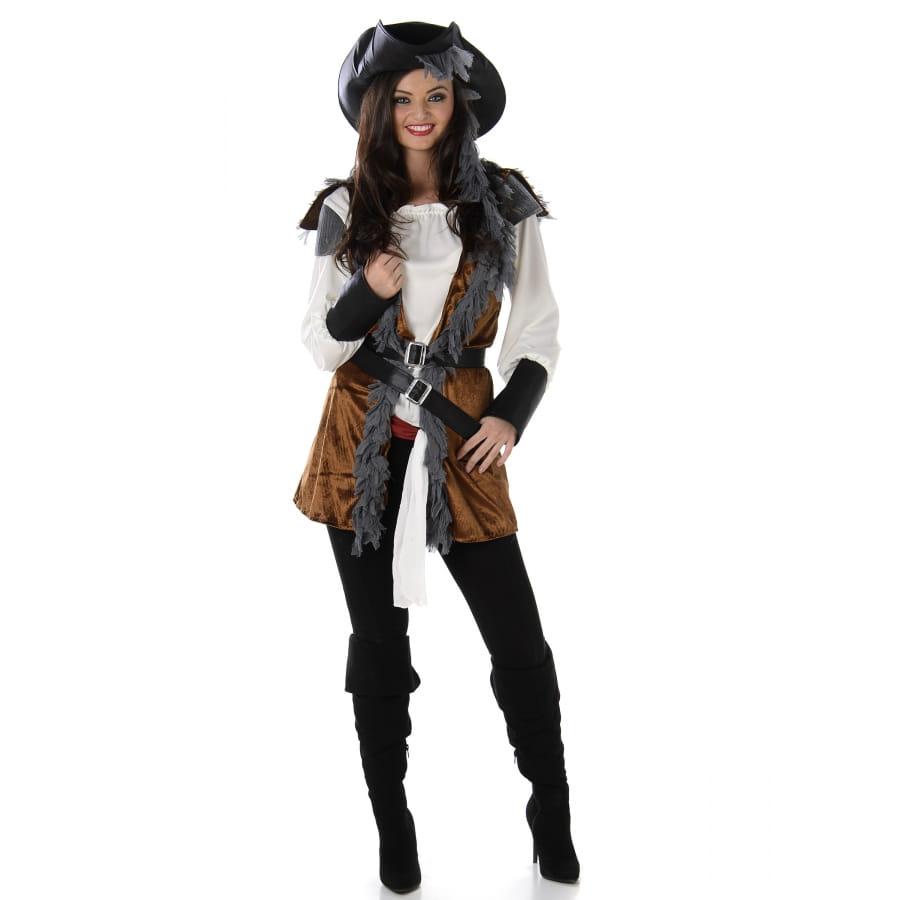 Déguisement Pirate Marron Femme Gilet De USzVpqMG
