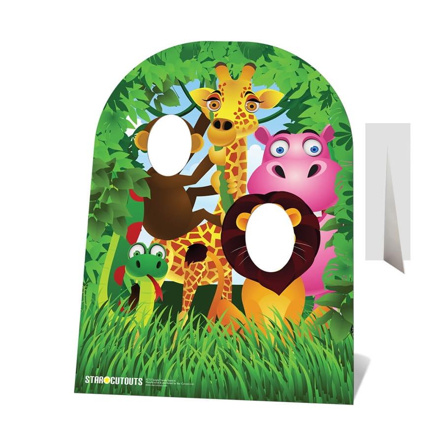 Double passe t tes animaux de la jungle rigolos - Decoration animaux de la jungle ...