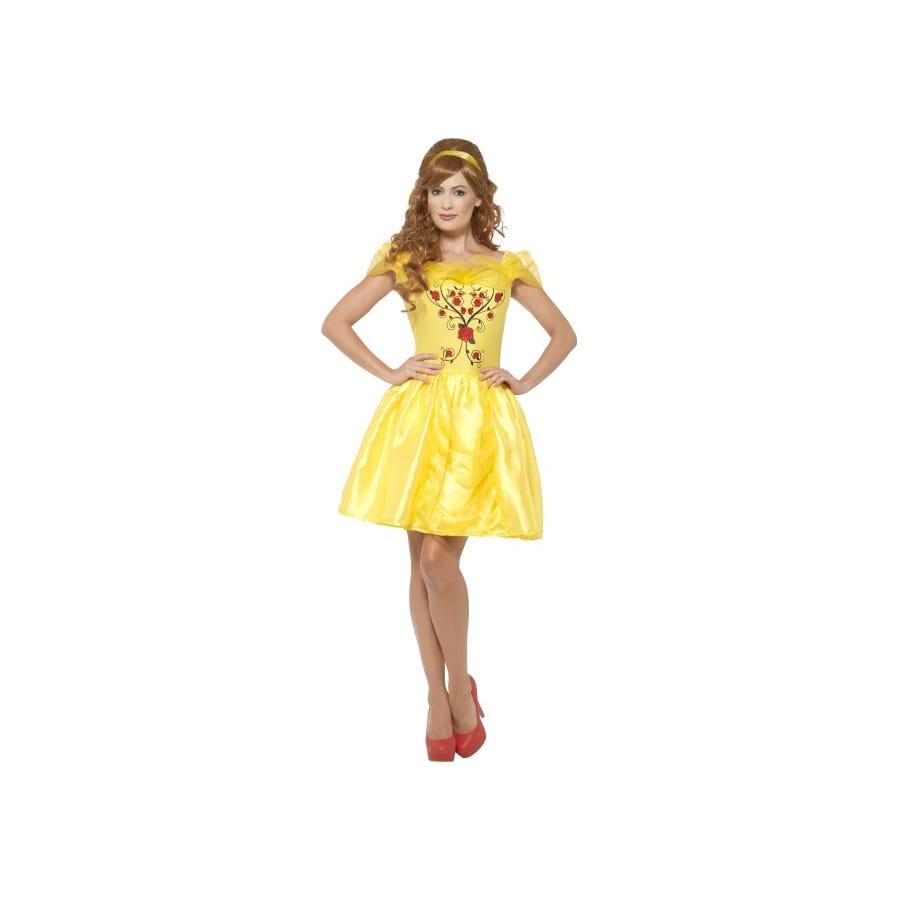 D guisement robe courte de belle pour adulte - Robe la belle et la bete adulte ...