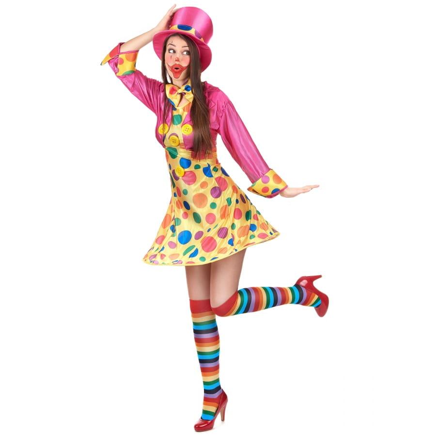 Robe Courte À Clown Pois Colorés Déguisement De sxrBdthQoC