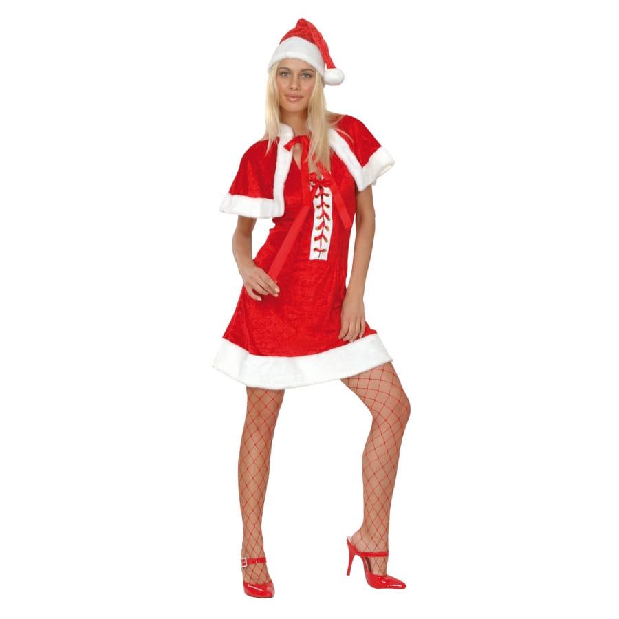 D guisement robe courte rouge de m re no l for Robe de noel rouge