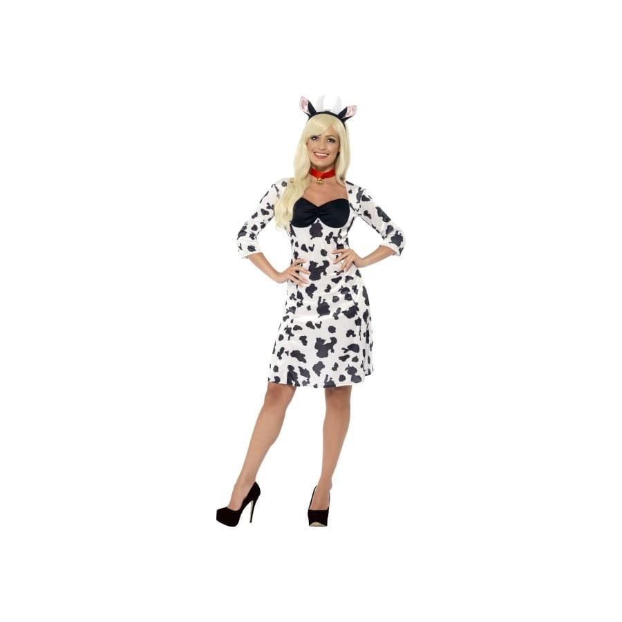 Blanche Et Noire Vache Robe De Déguisement xoedCB