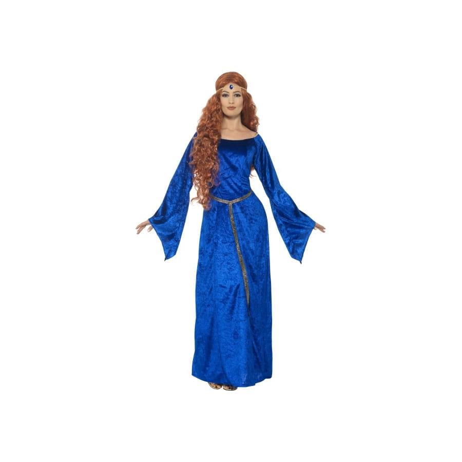 Déguisement Grande Robe Médiévale Bleue Taille rCBdxoe