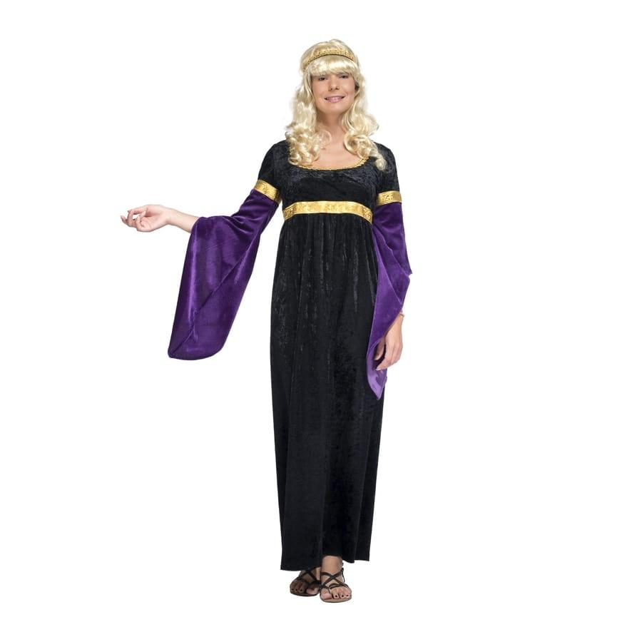 6644b5cd452 Déguisement robe médiévale noire et violette