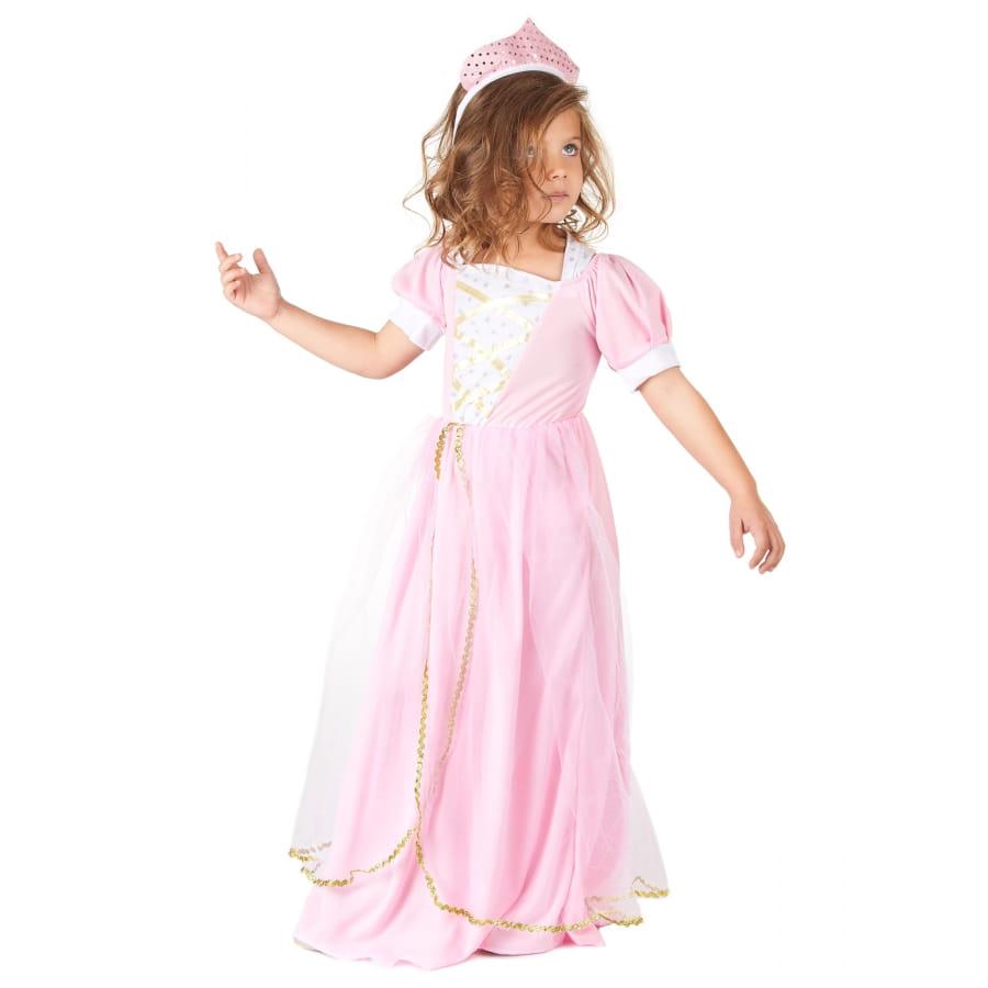 D guisement robe princesse rose pour petite fille - Deguisement petite fille ...
