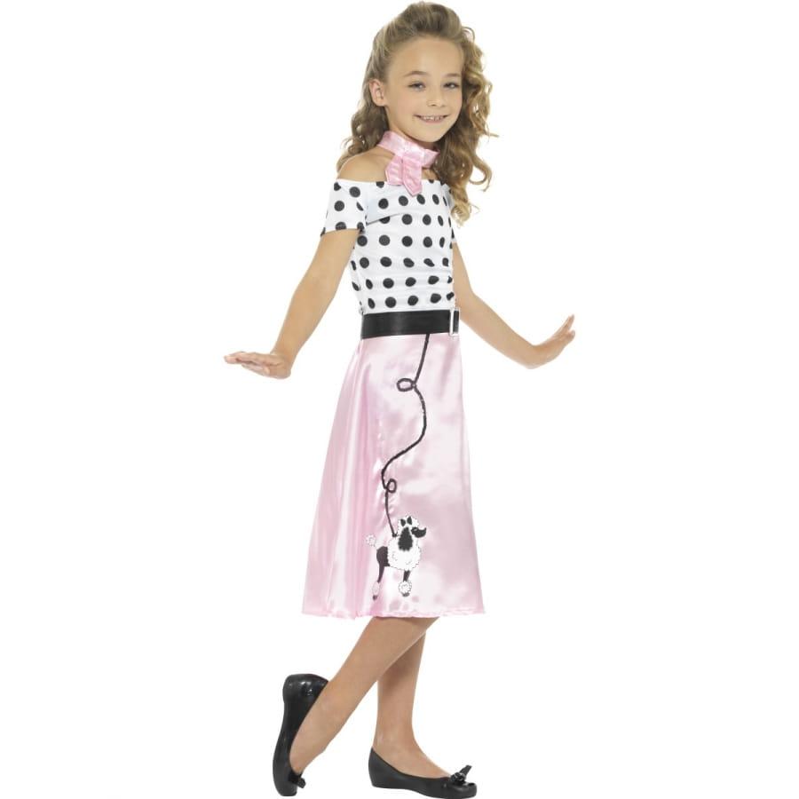 ae8bb93b0687 Déguisement robe rock rose années 50 pour enfant