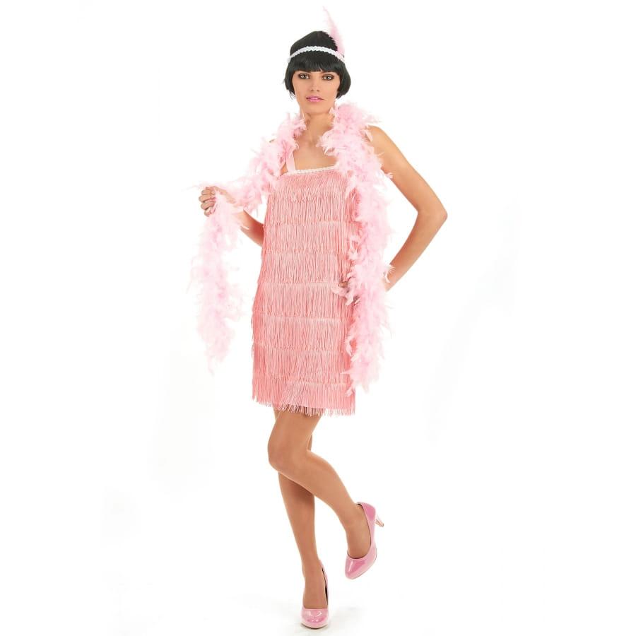 D guisement robe rose charleston franges - Robe charleston franges ...
