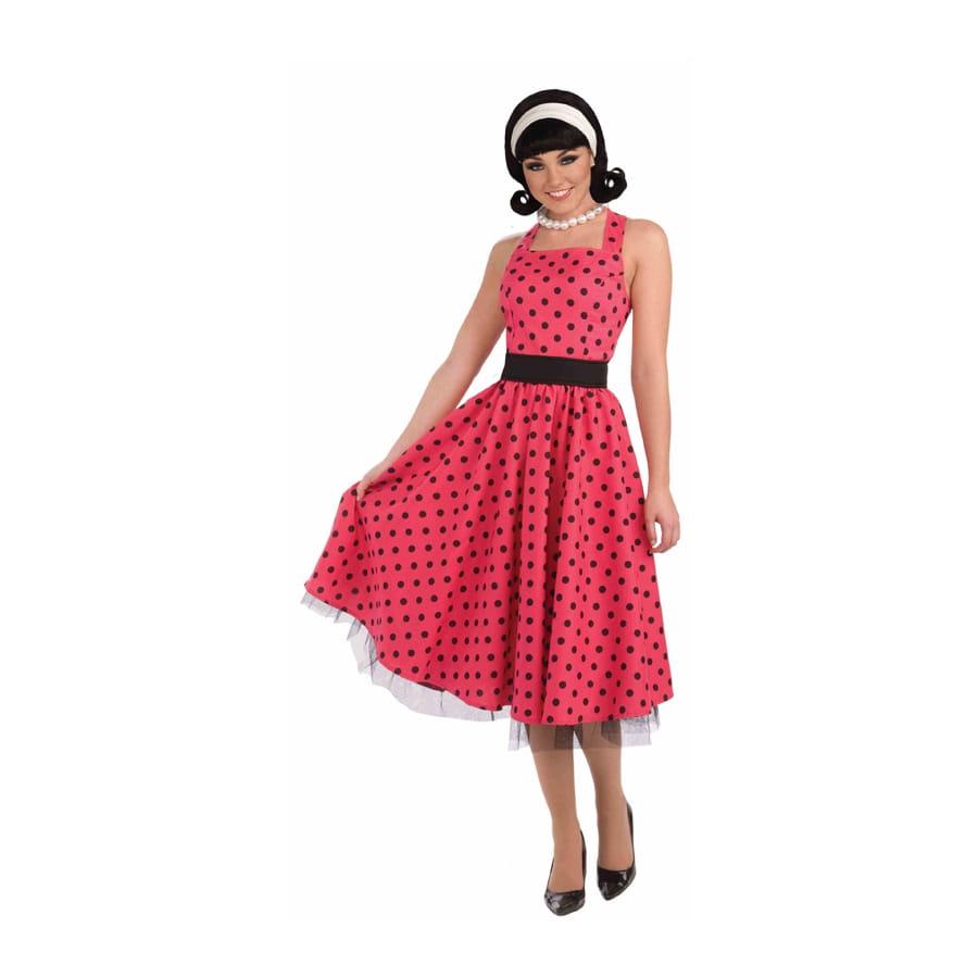 Déguisement robe rouge à pois