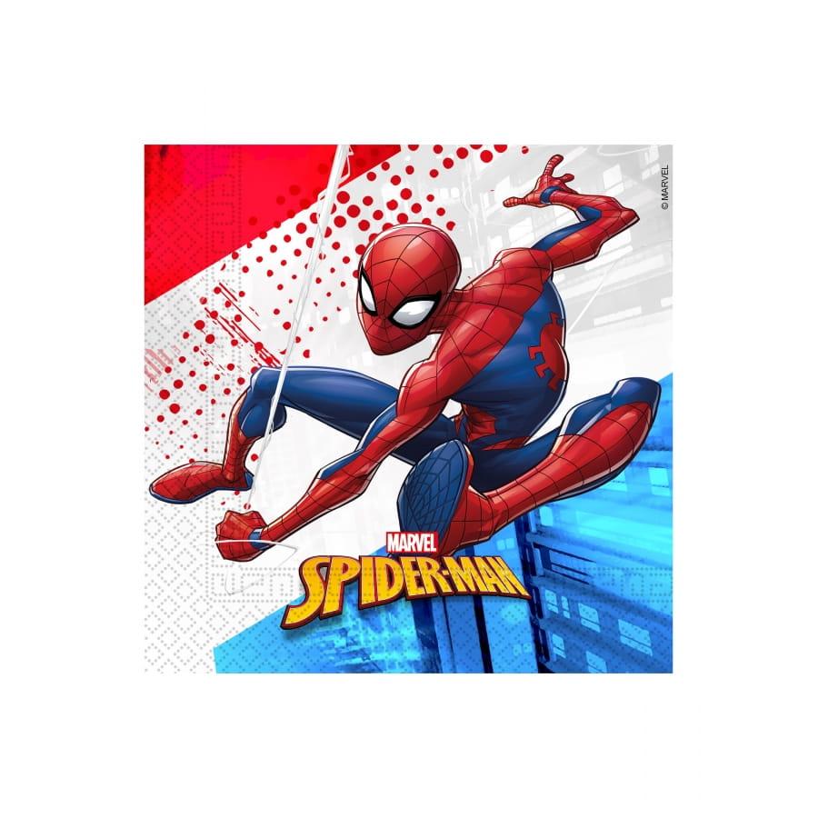 Deco Spiderman Compostable Pour Anniversaire