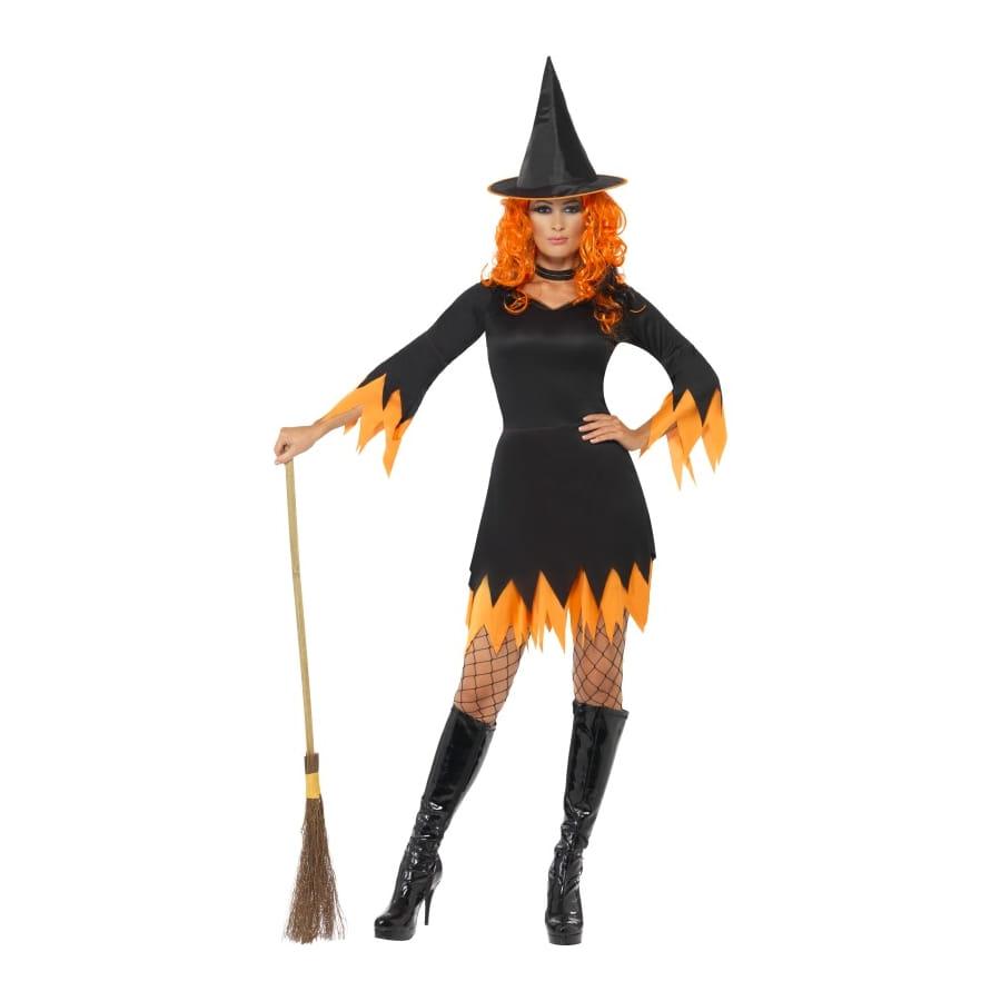 d guisement sorci re orange femme sexy. Black Bedroom Furniture Sets. Home Design Ideas