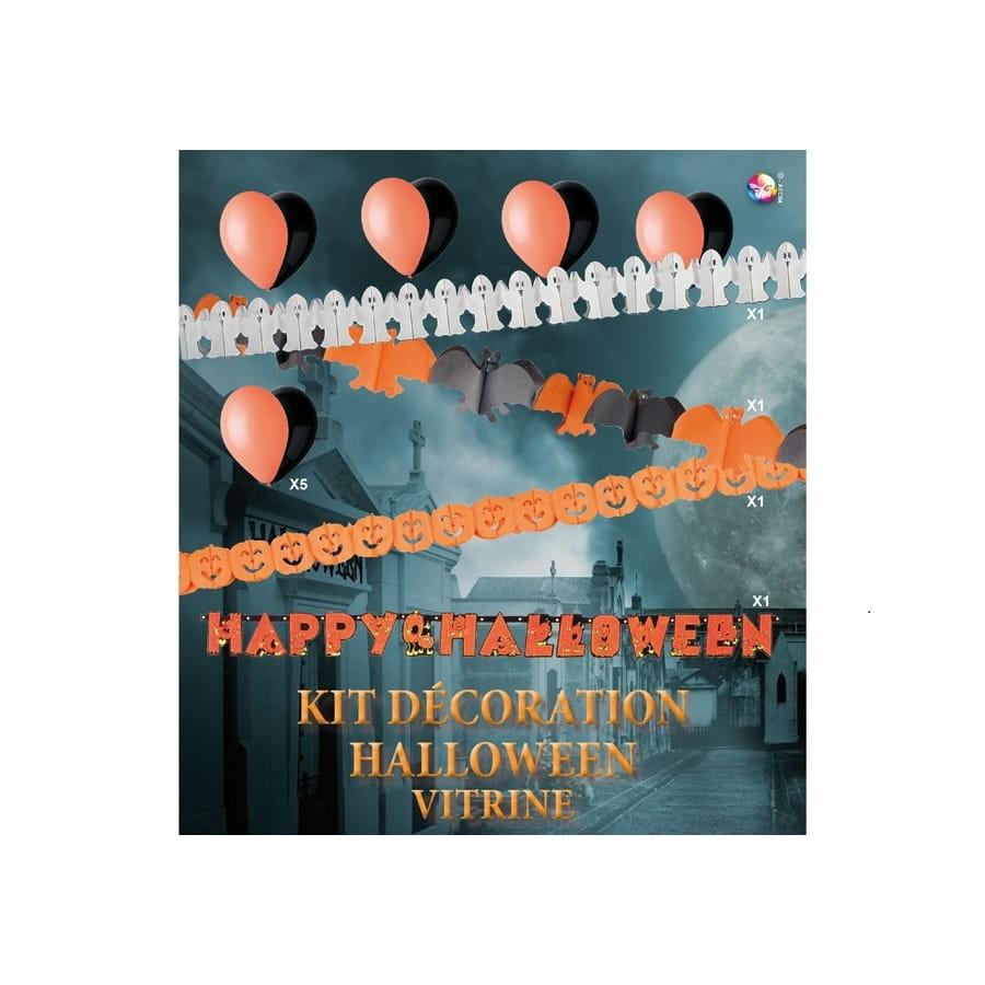 Ensemble De Decorations Halloween Pour Vitrine