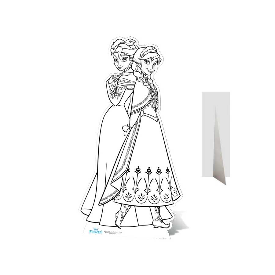 Elsa Et Anna Reine Des Neiges à Colorier Géant