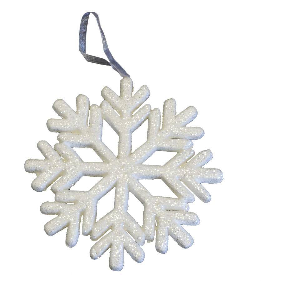 flocon de neige blanc paillettes de 25 cm. Black Bedroom Furniture Sets. Home Design Ideas