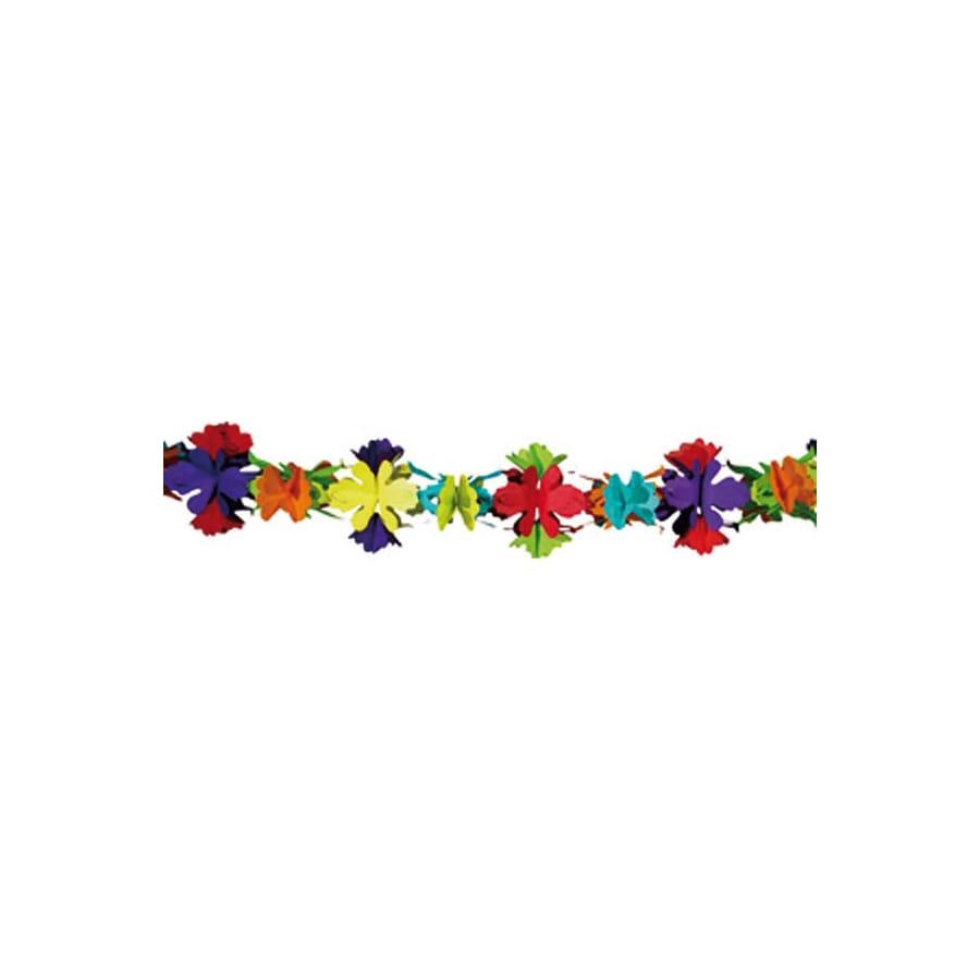 Guirlande color e de fleurs en papier - Guirlande fleurs papier ...