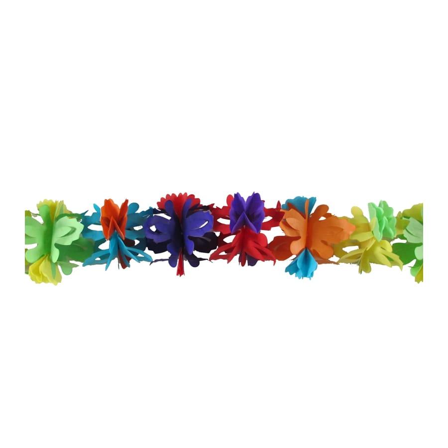 Guirlande de fleurs multicolores en papier 4m - Guirlande fleurs papier ...