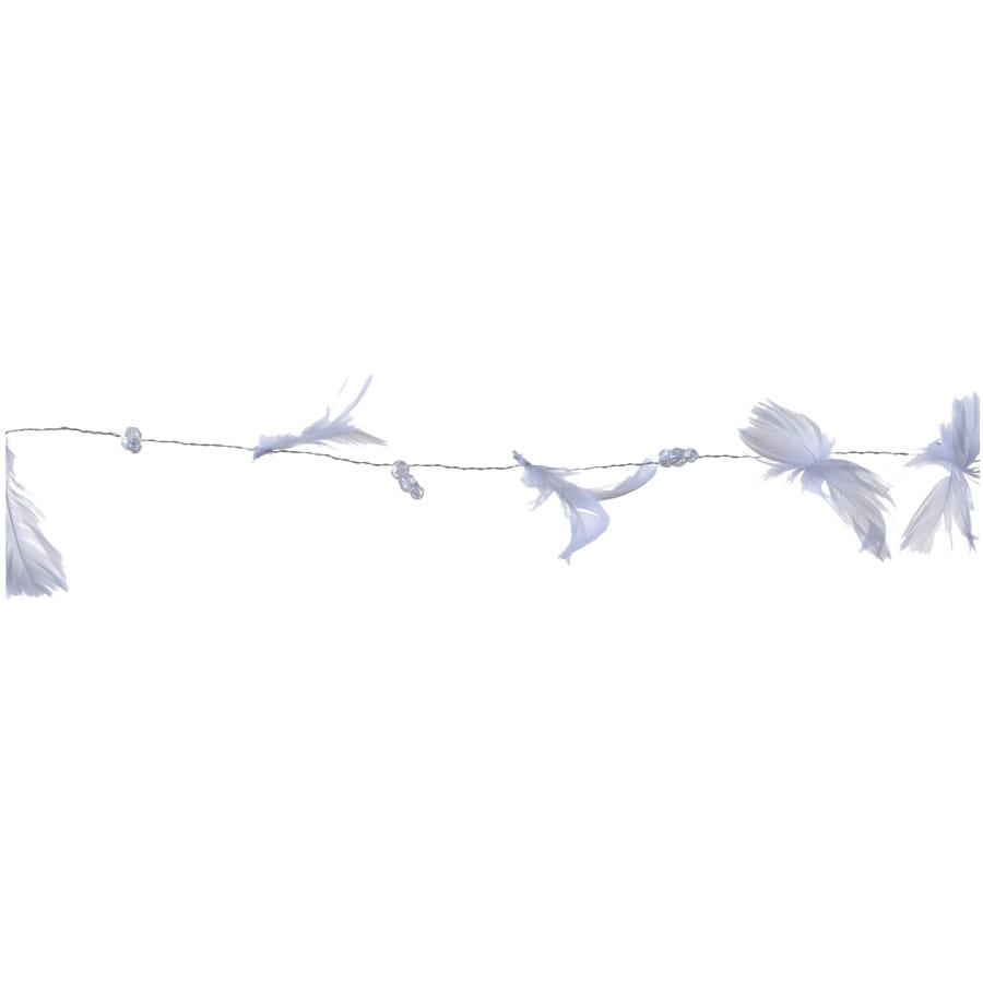 Guirlande de plumes et de perles blanches 1 8m - Guirlande plume blanche ...
