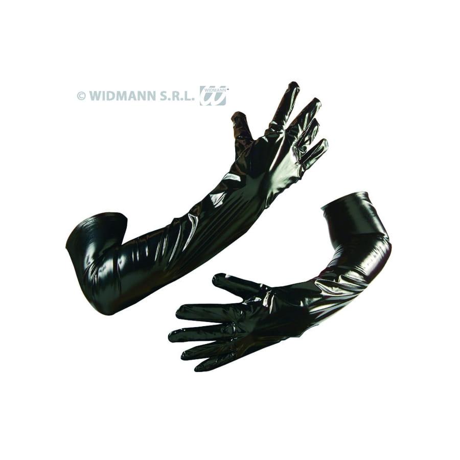 gants en vinyle noir. Black Bedroom Furniture Sets. Home Design Ideas