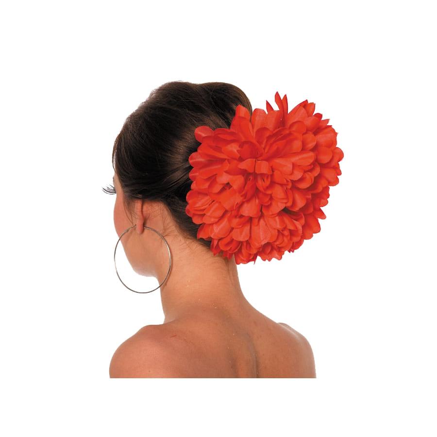 grosse fleur rouge pour cheveux sur barette. Black Bedroom Furniture Sets. Home Design Ideas