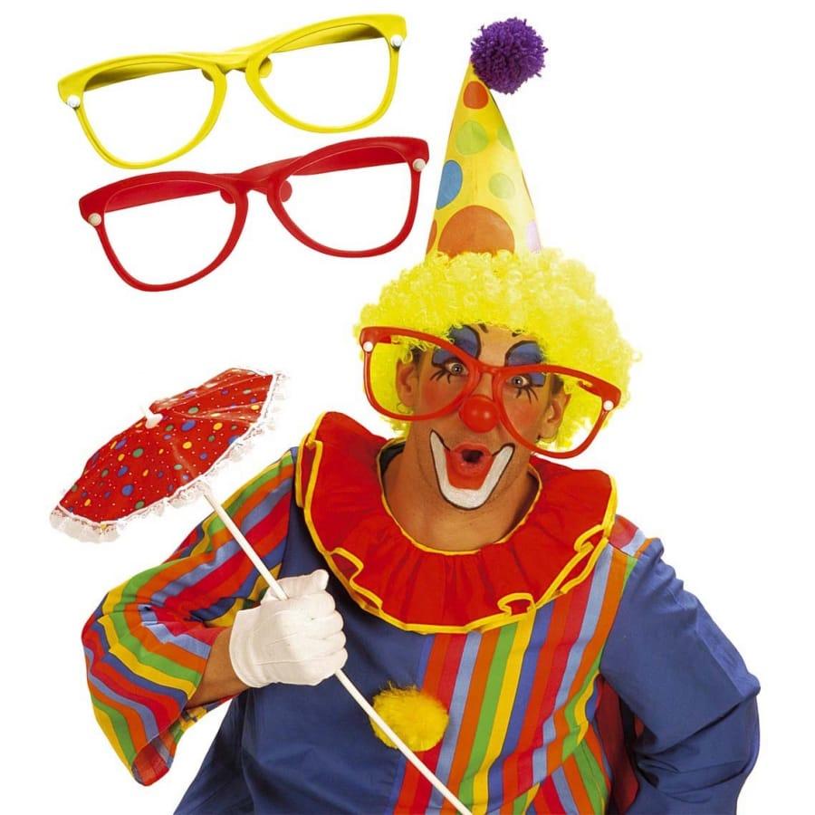 24ac0ac10c Grande lunettes de clown en plastique