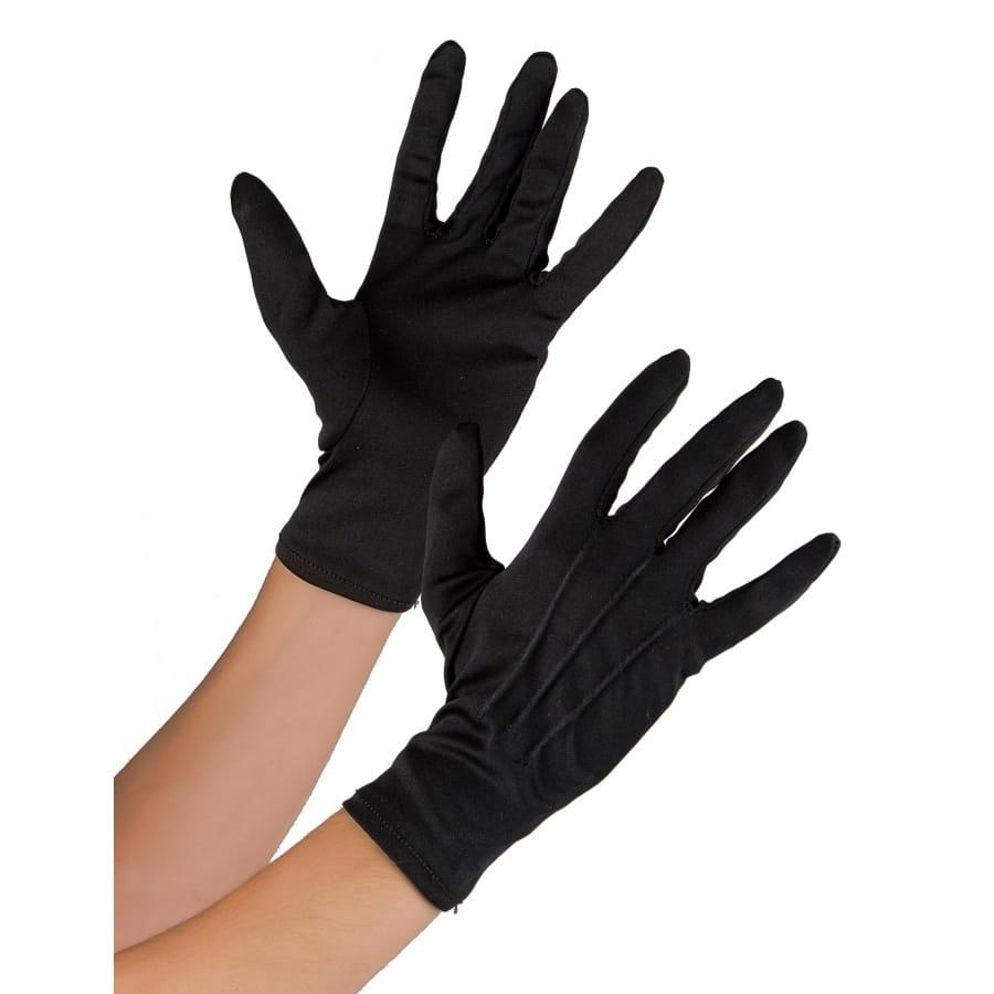ab371589c759d Gants noirs unis en tissu souple pour adulte